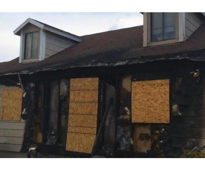 A family home has been damaged by fire.