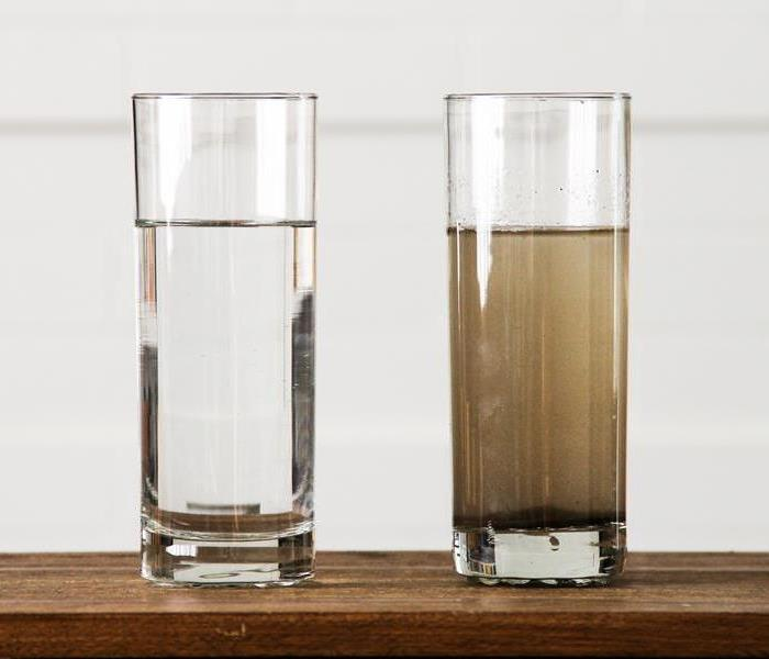 glass of Dirty Water and glass of Clean Water
